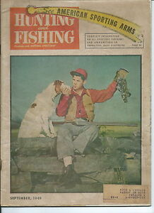 NP-026 Hunting and Fishing Magazine, September 1949, Hunting Firearm Rifle Illst