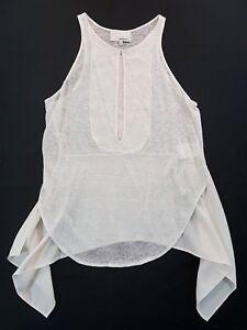 3-1-Phillip-Lim-Linen-White-Cream-Tank-Top-Womens-Size-XS-Sleeveless