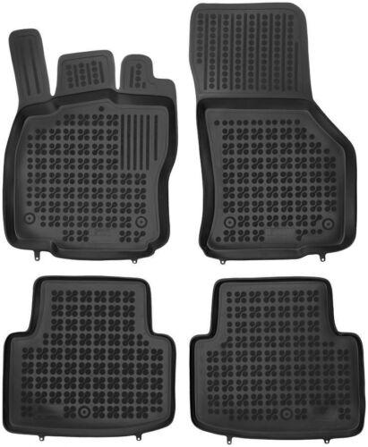 ab 2014 4-teilige schwarze Gummifußmatte für VW Passat B8 Bj