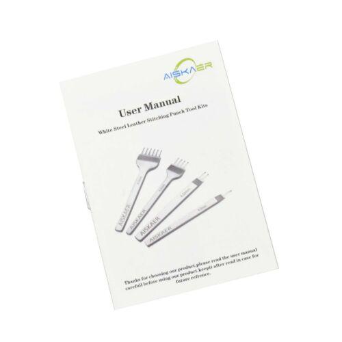 Aiskaer White Steel 5mm 1//2//4//6 Prong DIY Diamond Lacing Stitching Chisel Set...