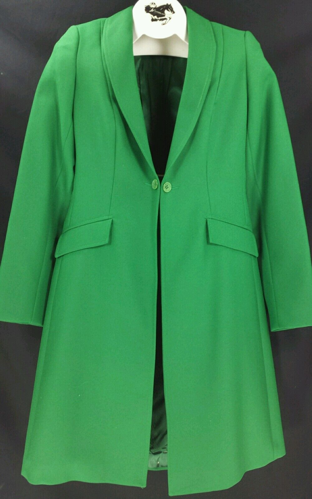 Reed Hill Ladies Saddleseat Day Coat  GREEN  Polyester size 26 - USA  unique shape