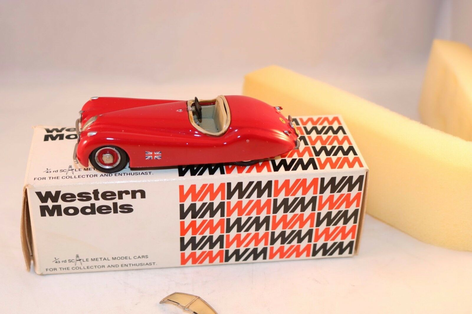 Western models 6 Jaguar XK120 XK120 XK120 Roadster rojo 1 43 excellent plus in box 38125b