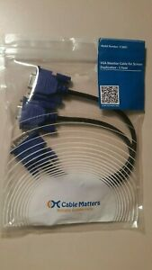 Cable Matters VGA Monitor Y-Splitter Cable for Screen Duplication 1 Foot