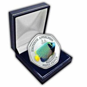 Kaiser Kaiserfisch 2021 50p Cupro Nickel Farbig Münze IN Etui