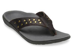 Women-039-s-Spenco-Total-Support-Orthotic-Crystal-Mocha-Flip-Flop-Sandals-Sz-6