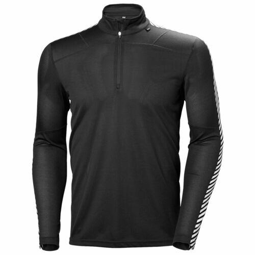 Helly Hansen Mens Lifa Long Sleeve Half Zip Black