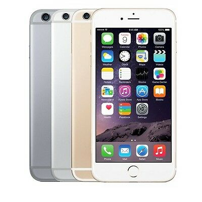 """Apple iPhone 6- 16GB 64GB GSM """"Factory Unlocked"""" Smartphone Gold Gray Silver"""