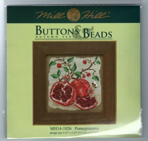 Pomegranates /& Bee Buttons /& Beads Mill Hill Cross Stitch Kit