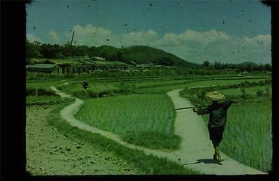 35mm Colour Slide- A Village in N.T. - Hong Kong   1970's
