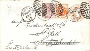 GB-1897-QV-THREE-COLORS-POSTAGE-duplex-postmark-034-LONDON-W-W-16-034-EARLIEST-DATE