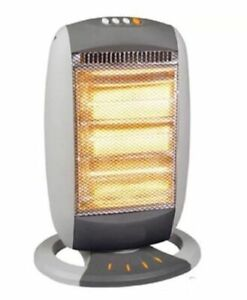 Halogen Heater Electric 1200W 3 Bar  Portable Large Oscillating Base Home Office