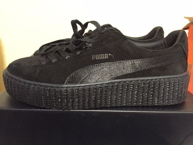 Puma X Rihanna Fenty Suede Creeper Satin Triple noir All 362268 01 Femme 6-9.5