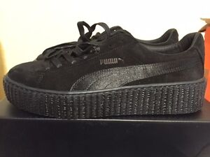 buy online 8deff 8224d Details about Puma X Rihanna Fenty Suede Creeper Satin Triple Black All  362268 01 Women 6-9.5