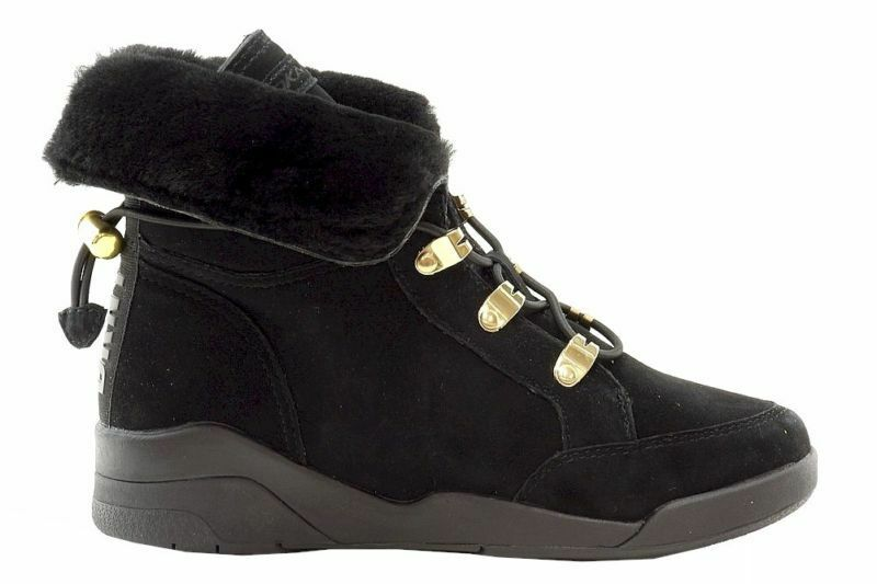 New Donna Karan DKNY Carrie Black Shearling Fashion Boots Shoes size 6.5