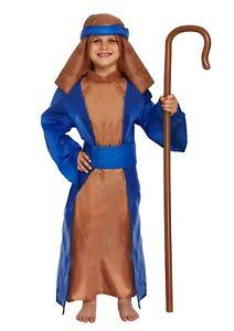 Enfants-Garcons-Filles-5-piece-bleu-Shepherd-Noel-Nativite-Costume-Robe-Fantaisie-Out