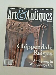 Art-amp-Antiques-Jan-2004-Chippendale-Grainger-McKoy-Bird-Sculptures-Majolica-RARE