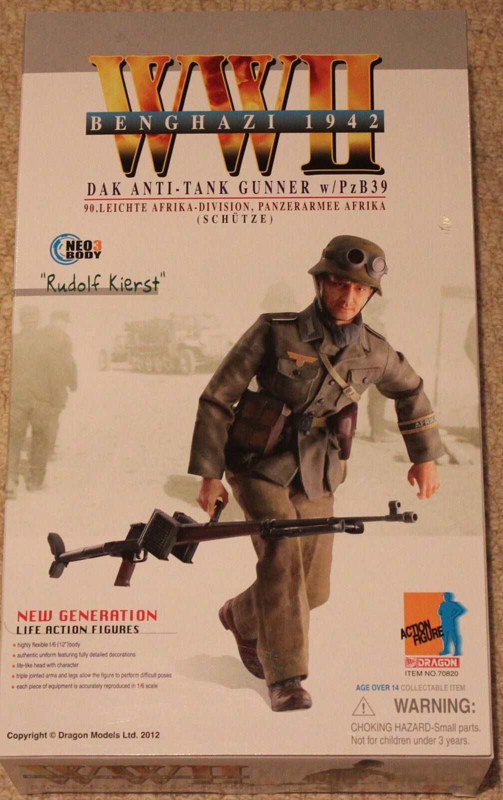 Dragon action figure 1 6 ww11 german rudolf 70820 12'' boxed  did cyber hot toy