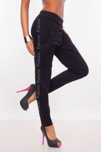 Women/'s Harem Pants With Pockets Cargos Street Trousers Chinos Sizes 8-18 8357