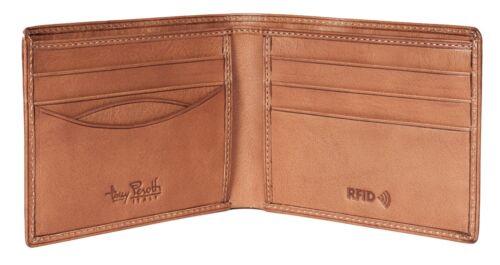 TONY PEROTTI Slim Homme Designer RFID Portefeuille Premium en cuir italien Tan 1002 1