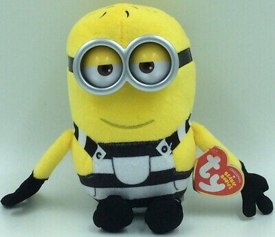 Lot of 6 Despicable Me 3 Minions TY Beanie Babies Dave Plush New