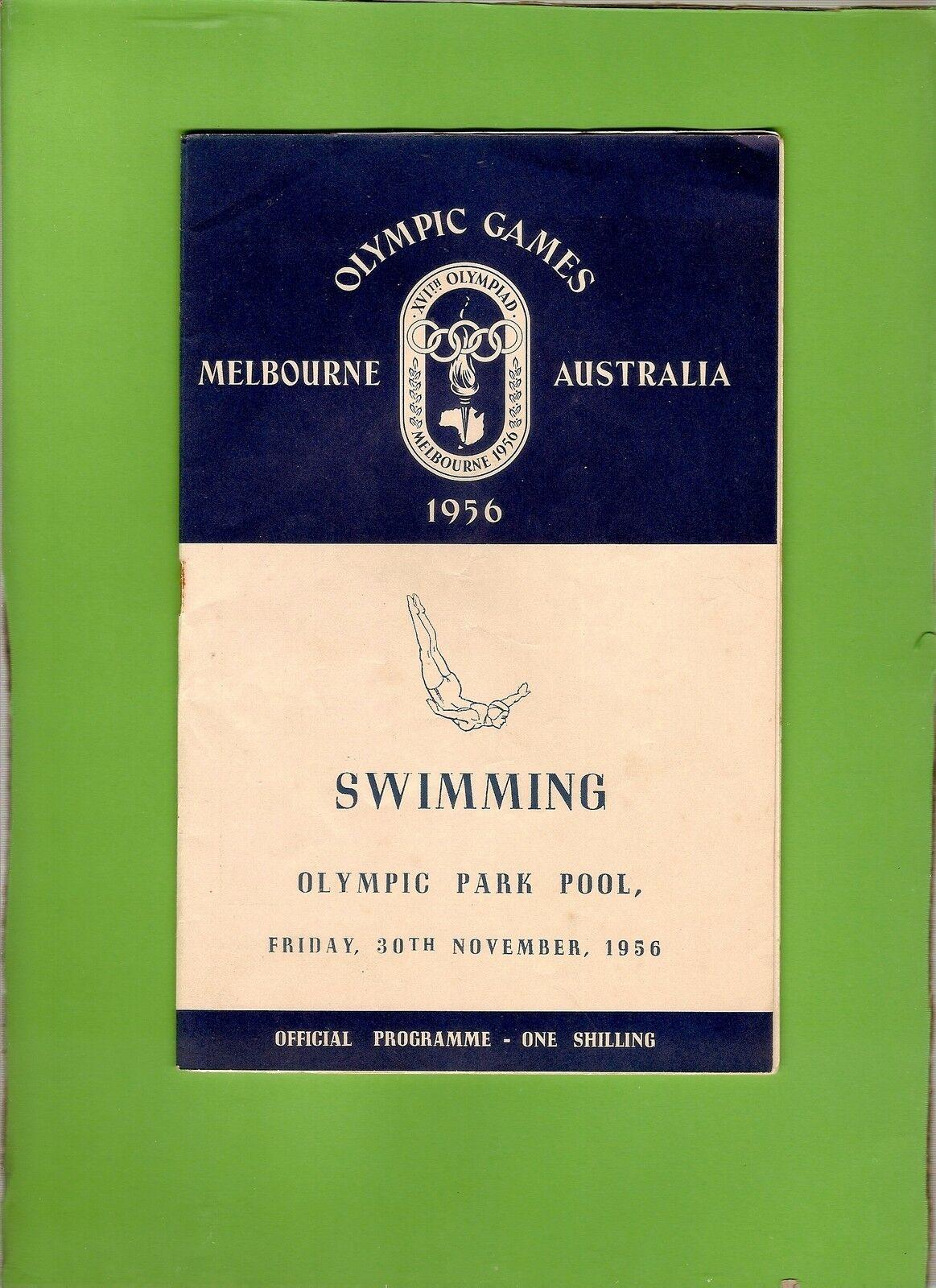 Kombi3.D146.1956 MELBOURNE OLYMPIC GAMES SWIMING PROGRAM, 30th November