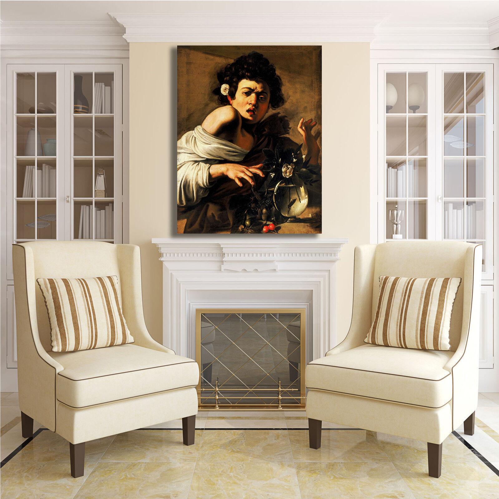 Caravaggio ragazzo morso da ramarro quadro stampa tela dipinto o arRouge o dipinto casa efa6de
