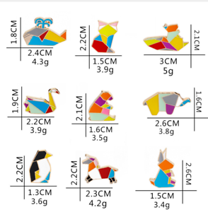 Bear-Origami-Geometric-Shape-Colorful-Enamel-Animal-Polar-Lapel-Pin-Badge-Brooch