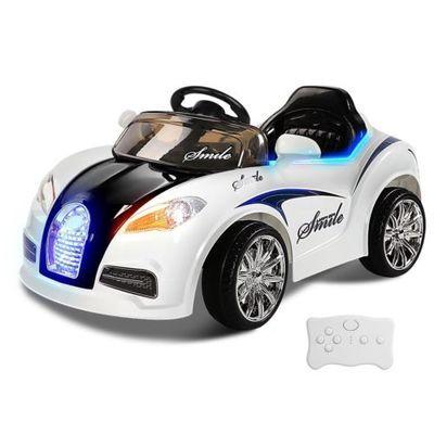 Kids Ride-On Car Bugatti Style Sports Electric Toys Battery 12V Remote White