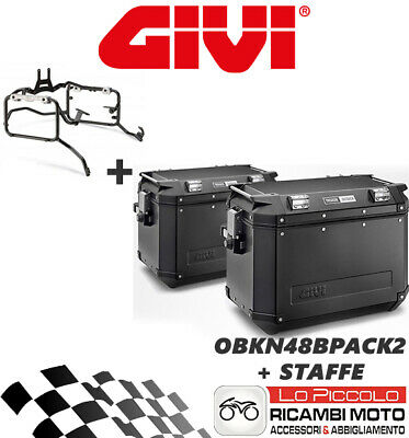 Brioso Honda Nc750x Dct 2014 2015 Givi Valigie Laterali Trekker Obkn48bpack2 + Staffe Sconti Prezzo