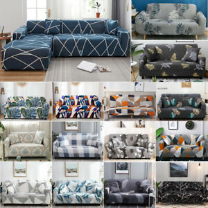 Sofa Covers High Stretch Lounge Slipcover Protector Couch Cover 1/2/3/4 Seater