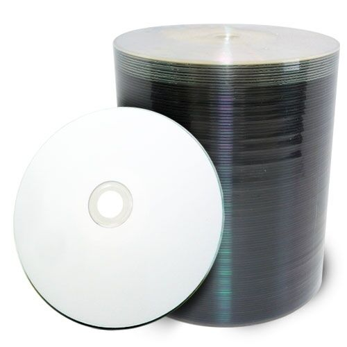 1000 pcs 16x White Inkjet HUB Printable Blank DVD-R Media Disc Shrink Wrapped