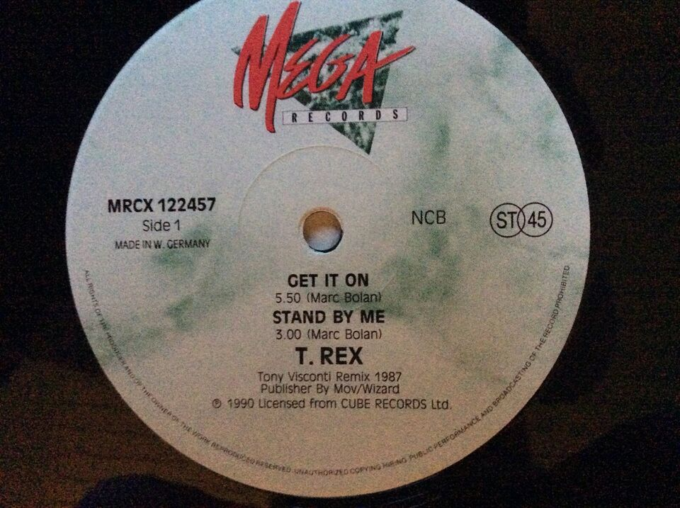 "Maxi-single 12"", T. Rex/Marc Bolan, GET IT ON"