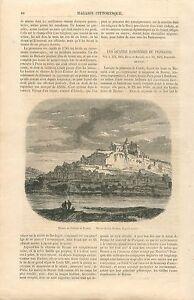 Ruines-Chateau-de-Beynac-et-Cazenac-Perigord-France-GRAVURE-ANTIQUE-PRINT-1860