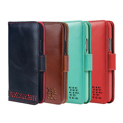 FleißIg Iphone Xs Max Leather Wallet Case - For Right Handers - Premium Genuine Leather