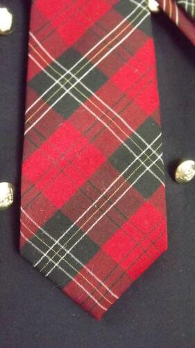 Pendleton Wool Neck Tie - Red Tartan Plaid