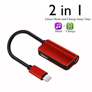 1x-2IN1-Lightnto-3-5mm-AUX-Adapter-Cable-For-Apple-iphone-Up-to-IOS-12-CHR