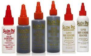 Salon-Pro-Hair-Extension-Bonding-Glue-amp-Black-White-Remover-All-sizes