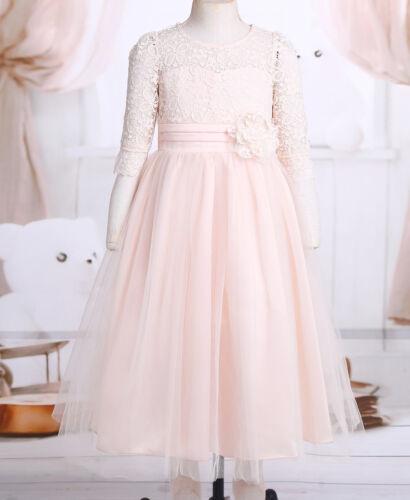 Kids Baby Fleur Filles Parti dentelle robe de mariage demoiselle d/'honneur Robes Âge 4-14 Y