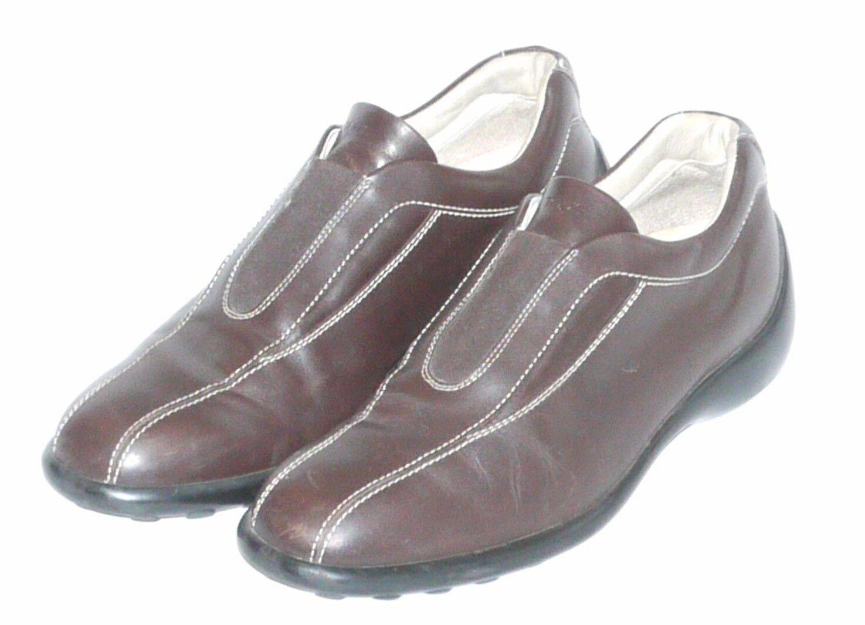 Tods para hombre Talla 11 antideslizante en mocasines zapatos informales de cuero marrón