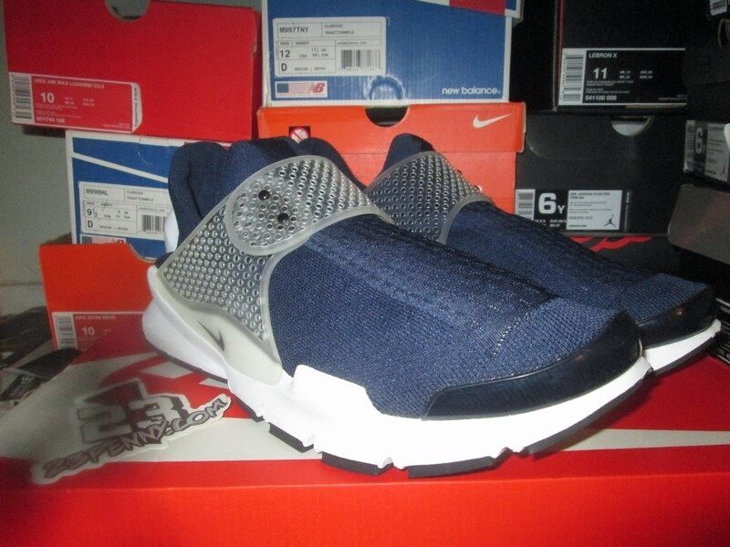 SALE NIKE SOCK DART MIDNIGHT NAVY WHITE SIZE 13 DS 819686 400 Wild casual shoes