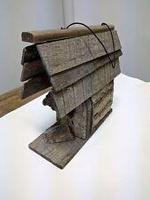 Unique Handmade Rustic Wood Birdhouse Bird House Wooden Hand Made Bark