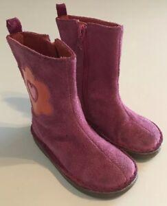 BabyGap-Baby-Gap-Girls-Pink-Boots-Flowers-Zipper-Size-7-7C