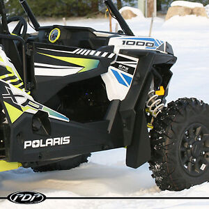 Polaris RZR XP 1000 and XP 1000 4 Extended Fender Flares Mud Flaps Guards Set!