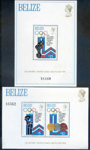 Belize-1979-Winter-Olympics-set-2-miniature-sheets-hinged-mint-2020-02-05-03