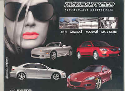 2005 Mazda Miata 6 3 RX8 Mazdaspeed Performance Accessories Brochure wt7090