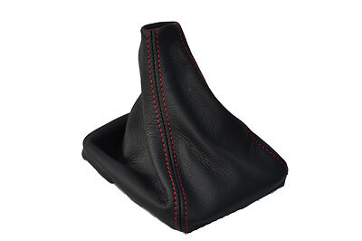 FITS FORD MONDEO MK4 LEATHER GEAR GAITER 2007-2013  RED STITCHING NEW