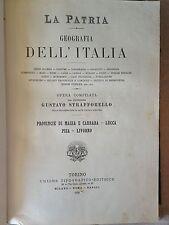 """MANUALE ANTICO LEGATURA""""MASSA E CARRARA,LUCCA,PISA,LIVORNO"""" G. STRAFFORELLO 1896"""
