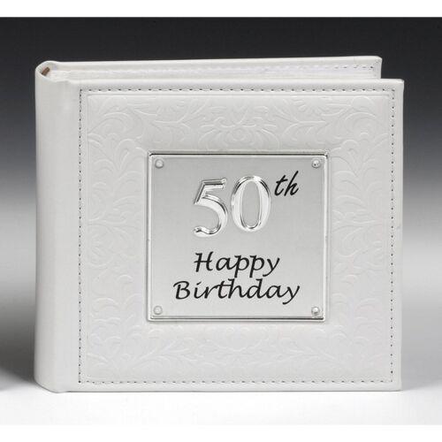 Cadeau 50th joyeux anniversaire photo album new détient 80 photos 15037