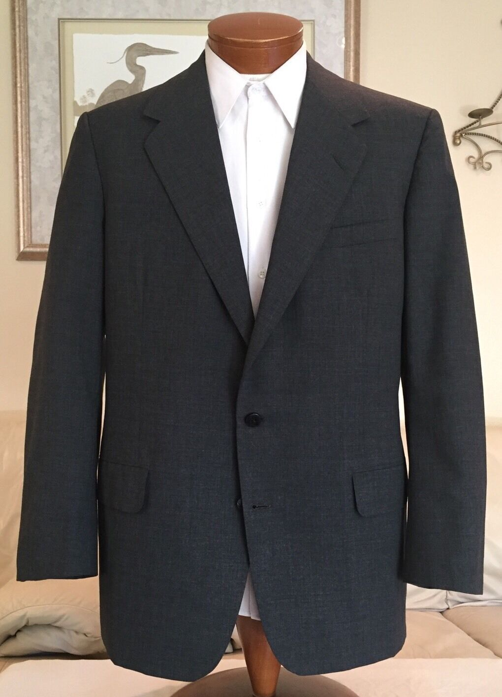 Oxxford Clothes  Herren Partially Lined grau 2 Btn Blazer Sz 42 R MINT