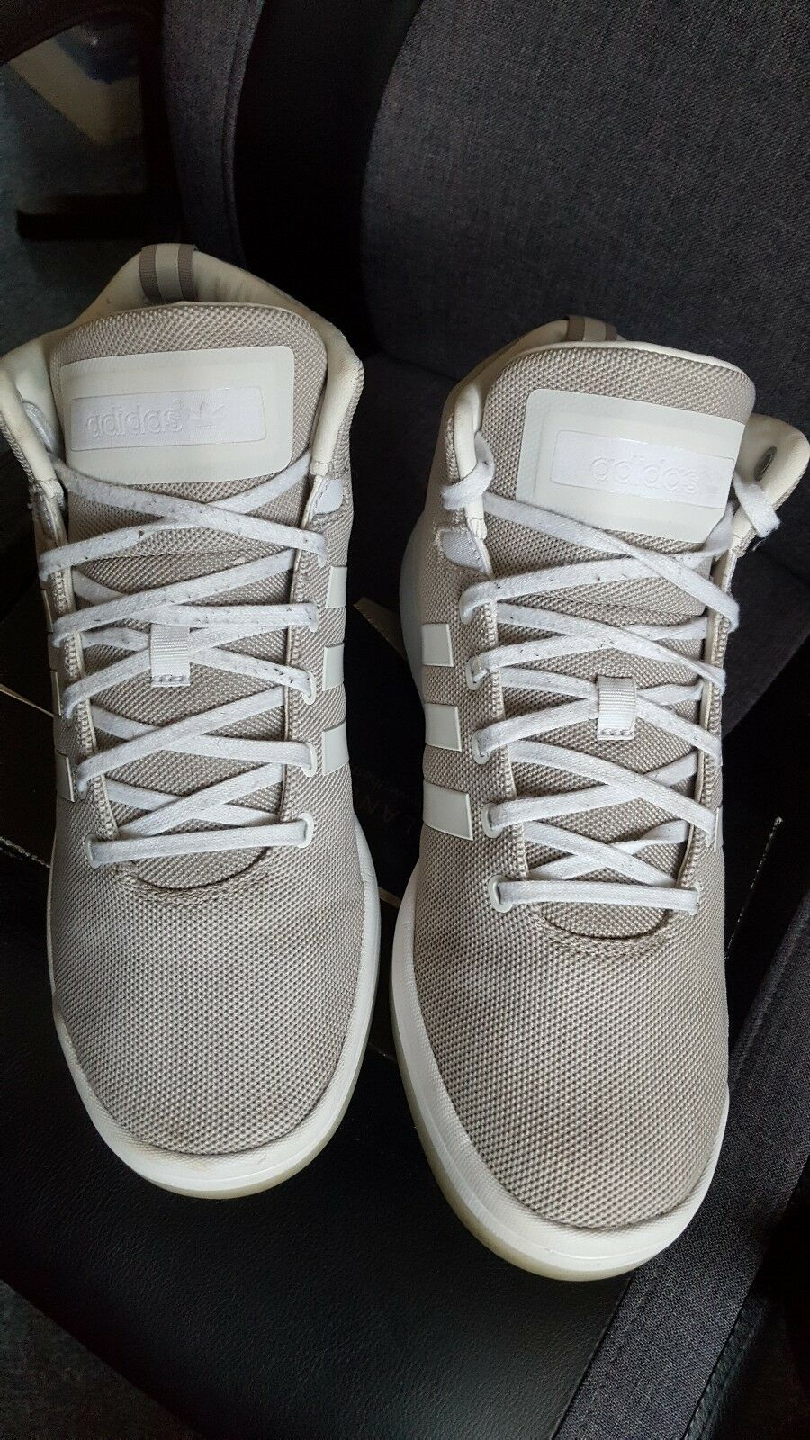 adidas mens sneakers size 8 grey & white Seasonal clearance sale